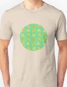 Yellow cross on green Unisex T-Shirt