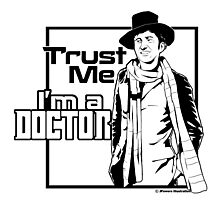 Trust Me, I'm a Doctor (black ver.) Photographic Print
