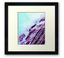 Light Blue Abstract Watercolor  Framed Print