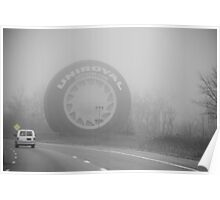 Foggy Uniroyal Tire... Poster