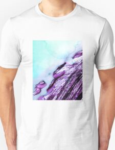 Light Blue Abstract Watercolor  T-Shirt