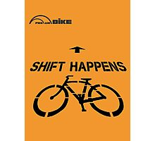 Cycling T Shirt - Shift Happens Photographic Print