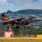 RAF Harrier GR9 hovering. by SWEEPER