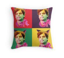 Gubler Cat popart Throw Pillow