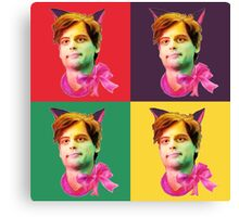 Gubler Cat popart Canvas Print