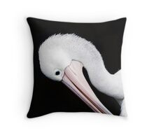 Curves - pelican portrait Throw Pillow