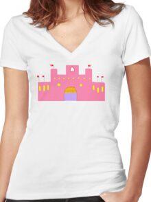 MHIMC PINK    T/SHIRT STICKER/BABY GROW Women's Fitted V-Neck T-Shirt
