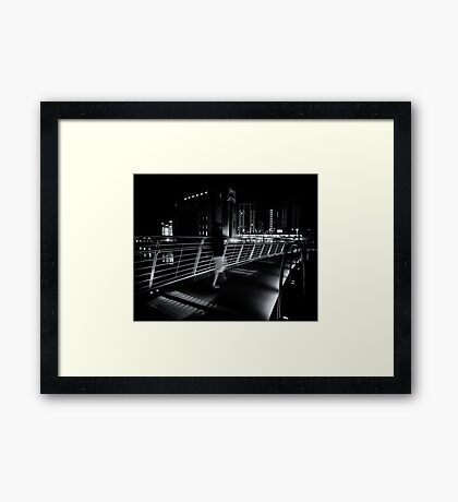 Ghosts walk at night Framed Print