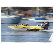 St George's Motorboat Club Practice day speedboats Poster