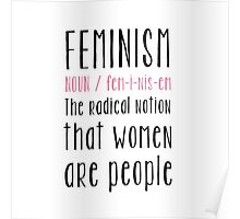 Feminism definition Poster