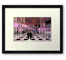 The streets of Alien town Framed Print