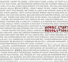 Words Start Revolutions by Isranunkel