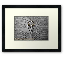 Gold Ring Love Framed Print