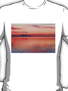 Brilliant Colorful Morning - Toronto Skyline Impressions T-Shirt