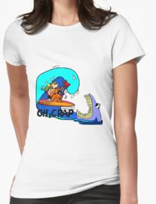 OH CRAP, Womens Fitted T-Shirt