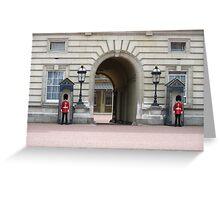 guards at london buckingham palace Greeting Card