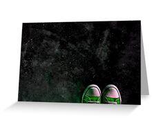 Skywalking In Green Greeting Card