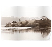 Lakeside in Winter Poster