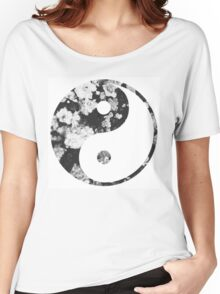 Floral Yin Yang Women's Relaxed Fit T-Shirt
