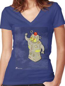 space oddity - v1 Women's Fitted V-Neck T-Shirt