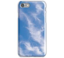 BLUE, SKY, CLOUDS, Weather, Climate, Blue Yonder, heaven iPhone Case/Skin
