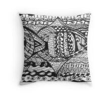 Zen Fishy Throw Pillow