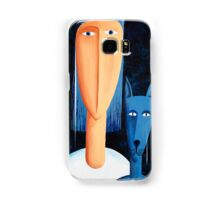 Woman and Cat Samsung Galaxy Case/Skin
