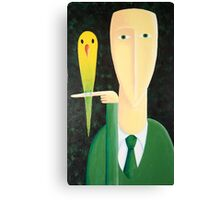 Man and Bird Canvas Print