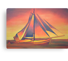 Sienna Sails at Sunset Canvas Print