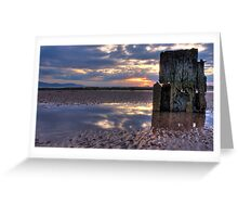 North Beach Ardrossan Sunset Greeting Card