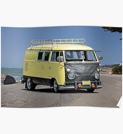 1967 VW Bus 'Vans a Rock'n' I Poster