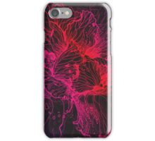 hand drawing abstract red lines iPhone Case/Skin