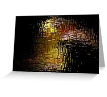 Fractal Flame Behind Glass Greeting Card