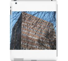 Tower block, Crouch Hill, and bare trees iPad Case/Skin