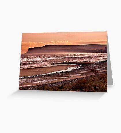 Saltburn Bay Greeting Card