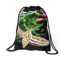 Hummingbird Moth Drawstring Bag