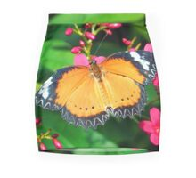 Common Orange Lacewing Butterfly Mini Skirt