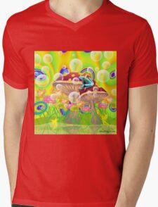 Fairies and Frog Mens V-Neck T-Shirt