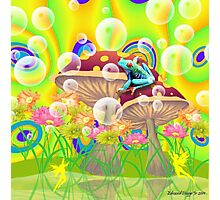 Fairies and Frog Photographic Print