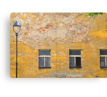 Prague - Yellow wall. Canvas Print