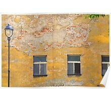 Prague - Yellow wall. Poster