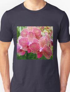 Pink and White Orchids Unisex T-Shirt