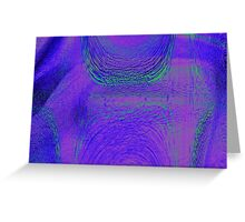 Reptile Hypnosis Leather  Greeting Card