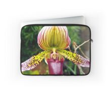 Purple and Yellow Orchid Laptop Sleeve
