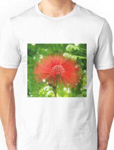Red Puffy Firework Flower Unisex T-Shirt