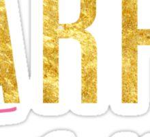 Carpe Diem - Seize the Day - Pink and Gold Sticker