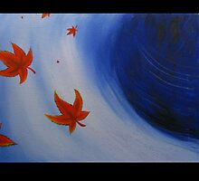 Maple Leaves, Blowing by Shannon Schober