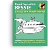 Bessie Service and Repair Manual Canvas Print
