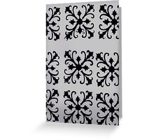 Black Motif Greeting Card