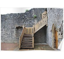 Old vs. New - Chepstow castle Poster